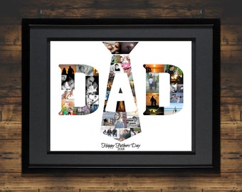 Fathers Day Gift | Gift for Dad | Gift Idea for Dad | Unique Gift for Dad | Awesome Dad | Custom Photo Collage | Photo Collage Gift