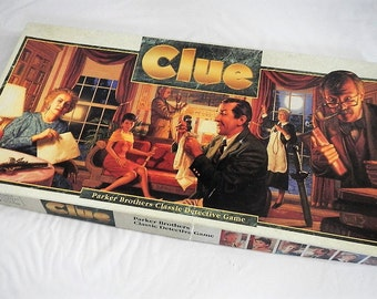 Vintage Clue Game - Parker Brothers, 1986 - #00045, classic board game, detective game, family game night, 3-6 players, ages 8-adult