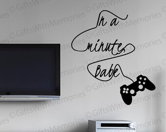 Gamer Wall Decal   Video Game Wall Decal   Game Controller Decal   Game  Room Decal