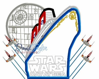 DCL Star Wars - Embroidery Machine Design - Applique - Instant Download - David Taylor Digitizing