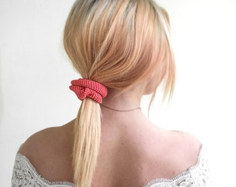 Crochet scrunchies, Boho hair scrunchies, Ponytail holder, 90s scrunchies, Ponytail elastics, Scrunchie bracelets, Boho hair accessories