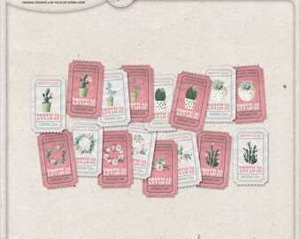 Admit One, Tropical Party, Cacti And Succulent, Printable Tickets, Party Invitations, Numbered Raffle Tickets, Hawaiian Party Invite
