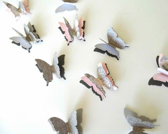 3D Paper Butterflies, garden party decor, birthday party accent, butterfly theme party, bridal shower decor, butterfly confetti