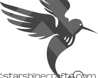Hummingbird SVG for personal cutting machines - instant download