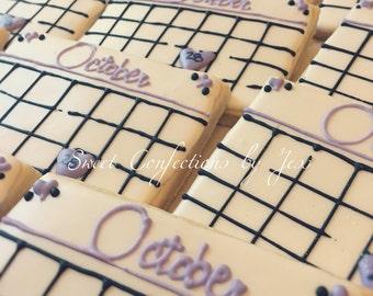Bridal Calendar cookies