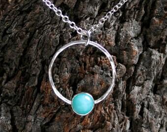 Mona ~ Gemstone & Sterling Silver pendant. Choose gemstone. Simple Elegant Minimalist Gemstone pendant. Exclusive design. 'Mona' collection