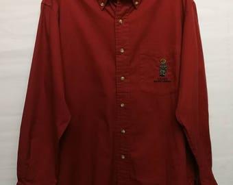 vintage Chaps Ralph Lauren bear long sleeve shirt M