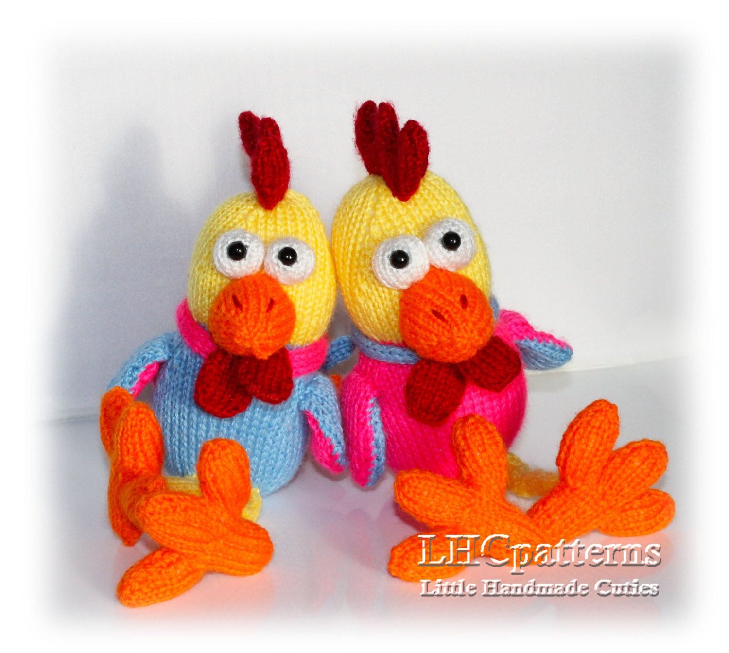 Rooster knitted toy pattern. Knitted Rooster PDF tutorial. DIY ...