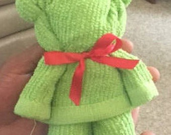 Handmade Teddy Bear Party Favors | Teddy Bear Towels | Handcrafted Bears | Baby Shower Favors