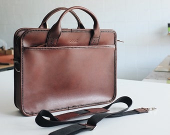 Leather mens briefcase womens leather briefcase mens handbag mens messenger bag men leather satchel mens laptop bag