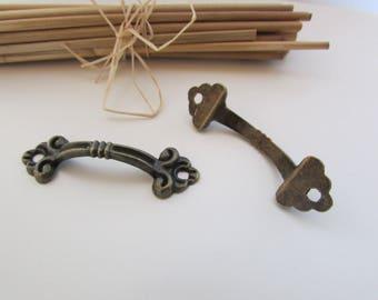 2 handle, handle, metal bronze 4.8 x 1.4 cm - 32.38