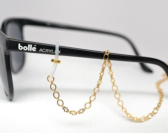 Gold eyeglasses chain with delicate detailing; Extra Long; eye glass chain; reading glasses holder; gold glasses chain; glasses leash