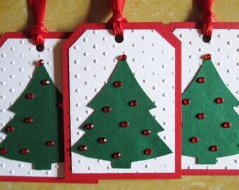 Tree Christmas Gift Tags - Christmas Tags - Holiday Gift Tags - Christmas Gifts - Christmas Wrapping - Christmas Gift Wrap - Set of 6