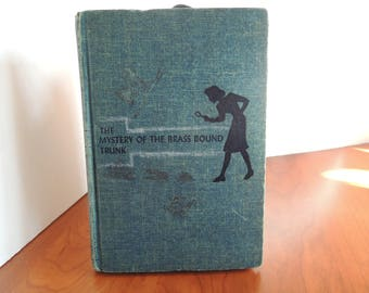 Nancy Drew, 1940, The Mystery of the Brass Bound Trunk, Classic collection, 17th book in the series, Fair-to-good condition, Vintage