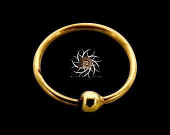 Abja 14K Septum Ring - 14K Gold Septum Ring - Indian Septum Ring - Tribal Septum Ring - Septum Jewelry - Septum Piercing - Indian Nose Ring