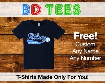 Personalized baseball birthday shirt boys baseball shirt,.