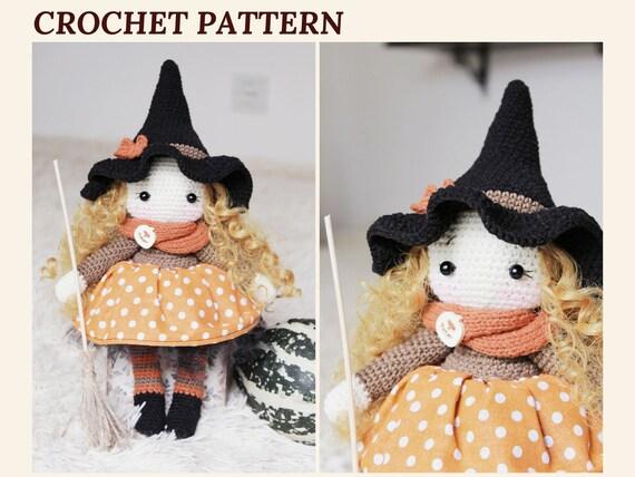 Halloween Amigurumi Crochet Pattern : Crochet witch pattern amigurumi witch doll halloween witch