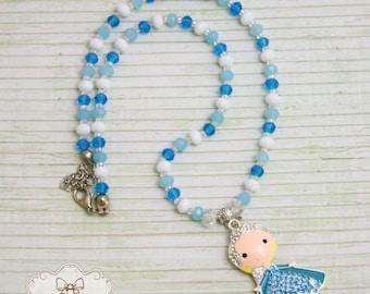 Frozen Elsa necklace Frozen Pendant Disney jewellery Snowflake necklace Frozen birthday outfit party Frozen favors Frozen outfit