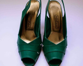 Green shoes size 35.5 Minelli