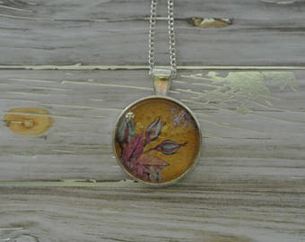 Yellow and Lilac Large Pendant Necklace