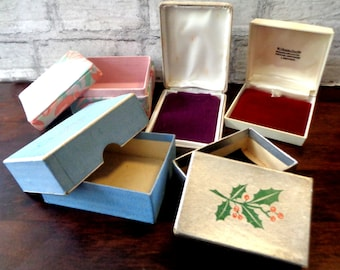 5 Vintage gift boxes, collectible boxes, jeweller's boxes, jewelry packaging, Christmas gift, vintage containers, gift boxes Irish jewellers