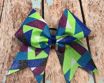 Large Multi Color Cheer Bow, Softball Bow, Team bows
