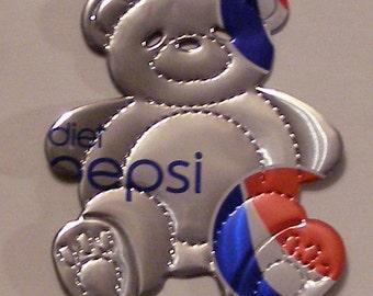 Teddy Bear Magnet - Diet Pepsi Soda Can (Replica)