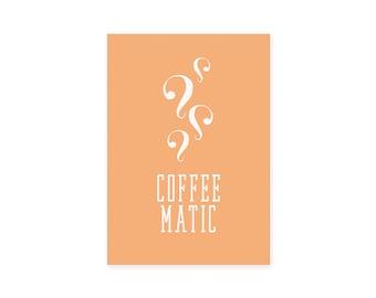 Postcard: coffeematic