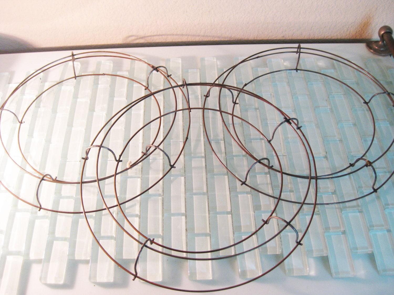 Corona de alambre Marcos - 3 cable incluido - de círculos del marco ...