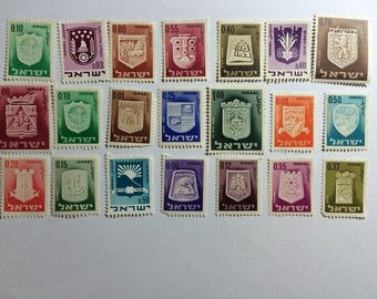 CITIES Postage Stamp Collection 1967 Israel Commemorative 21 Different Stamps
