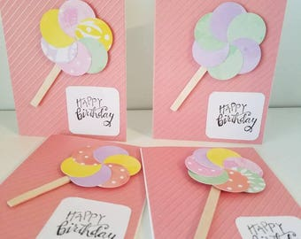 Lollipop Birthday Cards