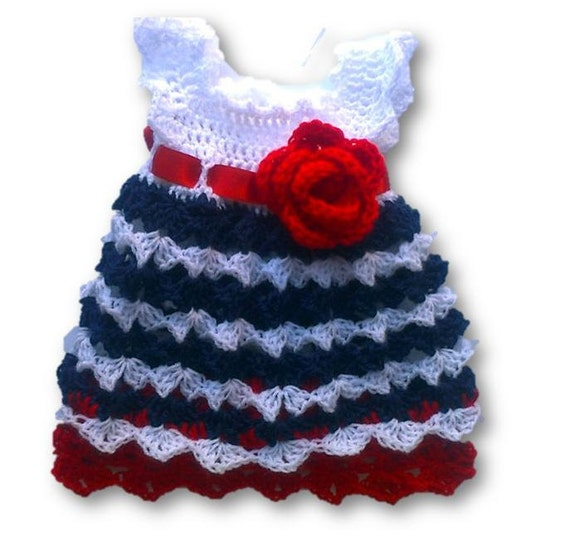 4th Of July Baby Girl Dress Independence Day Baby Dress