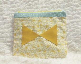 Wallet, clutch, mustard, graphic print