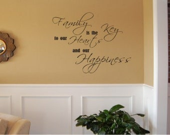 Family is the Key - Vinyl wall decal