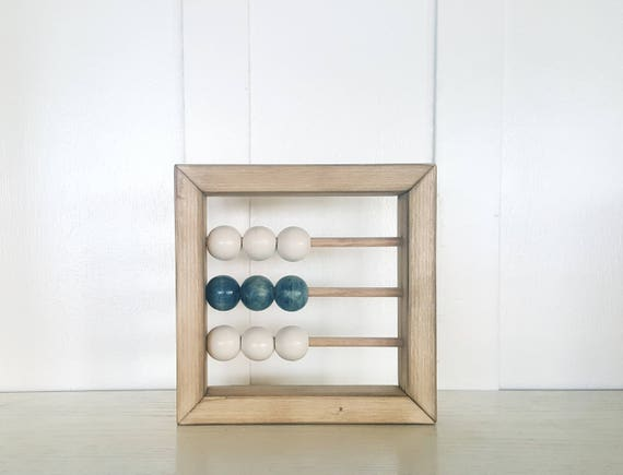 Mini Abacus sign 6x6 baby room decor abacus nursery decor