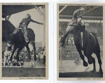 Vintage RPPC Strykers Photogloss Rodeo Series Unused Lot of 2