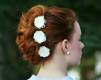 Wedding hair accessories - bridal hair clips