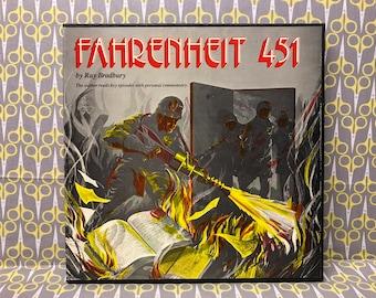 Fahrenheit 451 read by Ray Bradbury spoken word Rare Vinyl Record LP Album Listening Library Records