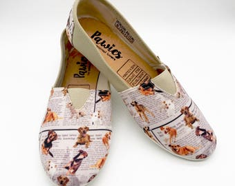 MUTT SHOES, adopted dog lovers, Dog breeds, Animal lovers, Women shoes, pawies