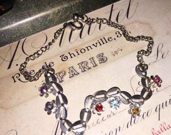 Vintage Faux Gem Dainty Bracelet