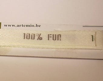 White 100% fun Artemio Ribbon off 100cm creating jewelry, scrapbooking