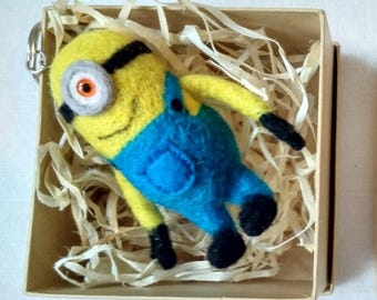 Felt Minion, Needle felted Minion