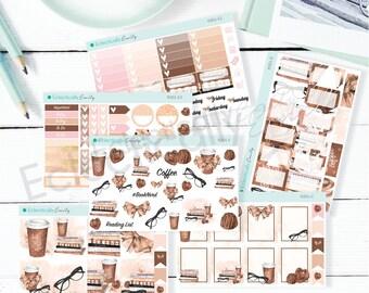 Reading Beauty Sticker Kit | Planner Stickers | Stickers for Erin Condren Life Planner | Glam Stickers | K001-Kit