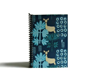 Christmas Reindeer's Notebook A6 Spiral Bound - 4x6 Inches, Gifts Under 20, Back to School, Writing Diary Journal, Pocket Sketchbook