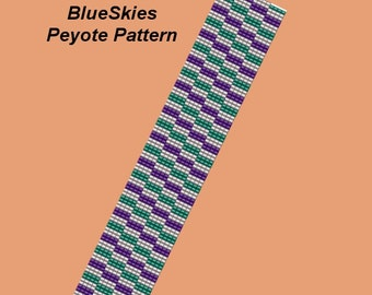 BLUE SKIES Peyote Bracelet Pattern