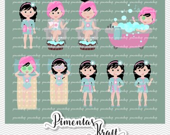 Digital Clipart   Spa Day Beauty,spa Day Clipart,beauty Clipart,annelise  Clipart
