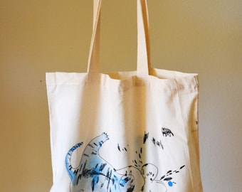 Two Layer Silkscreen Tote Bag - Limited