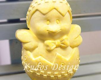 FE025 Easter Chick Soap Mold, soap mold, silicone soap mold (Kudos Design, Kudosoap) Taiwan