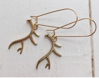 Prong Queen — antlers buck doe deer nature hunter dainty gold plated stocking stuffer boho minimalist christmas Nashville country girl