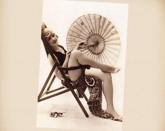 Art Deco Bathing Beauty New 4x6 Vintage Postcard Image Photo Print BB16